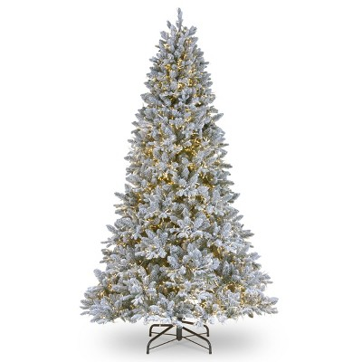 6.5ft National Christmas Tree Company Pre-Lit Iceland Fir Hinged Artificial Christmas Tree Clear