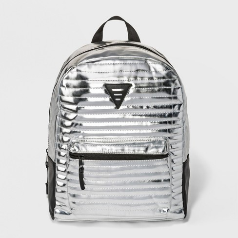 Boys' Quilt Backpack - Cat & Jack™ Silver - image 1 of 4