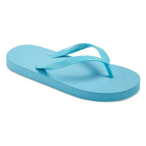 d60ea32ee917d Girls  Hilary Flip Flop Sandals - Cat   Jack™ Turquoise XL   Target