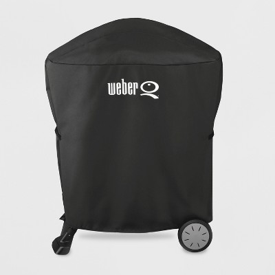 Weber Q100/1000, Q200/Q2000 Premium Grill Cover - Black