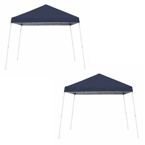 Z-Shade 10' x 10' Instant Shade Outdoor Canopy Party Tent Shelter, Navy (2 Pack) - image 1 of 4