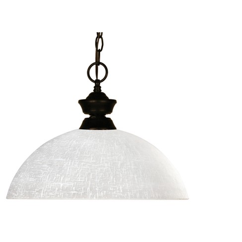 Pendant with White Linen Glass Ceiling Lights - Z-Lite - image 1 of 1
