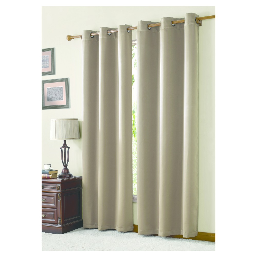 McKenzie Twill Blackout Curtain Panel Taupe (Brown) (42