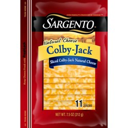 Sargento Colby Jack Sliced Colby & Monterey Jack Natural Cheese - 7.5oz