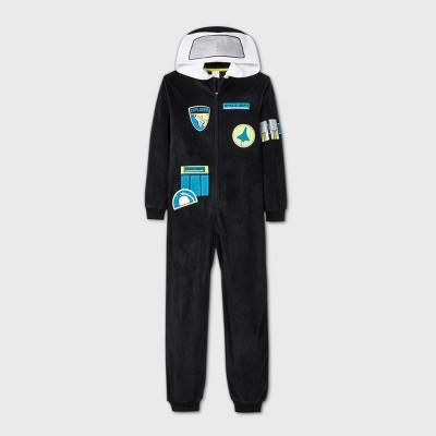 Boys' Micro Fleece Astronaut Union Suit - Cat & Jack™ Black L