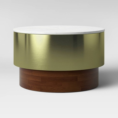 Toluca Marble And Brass Coffee Table Gold Project 62