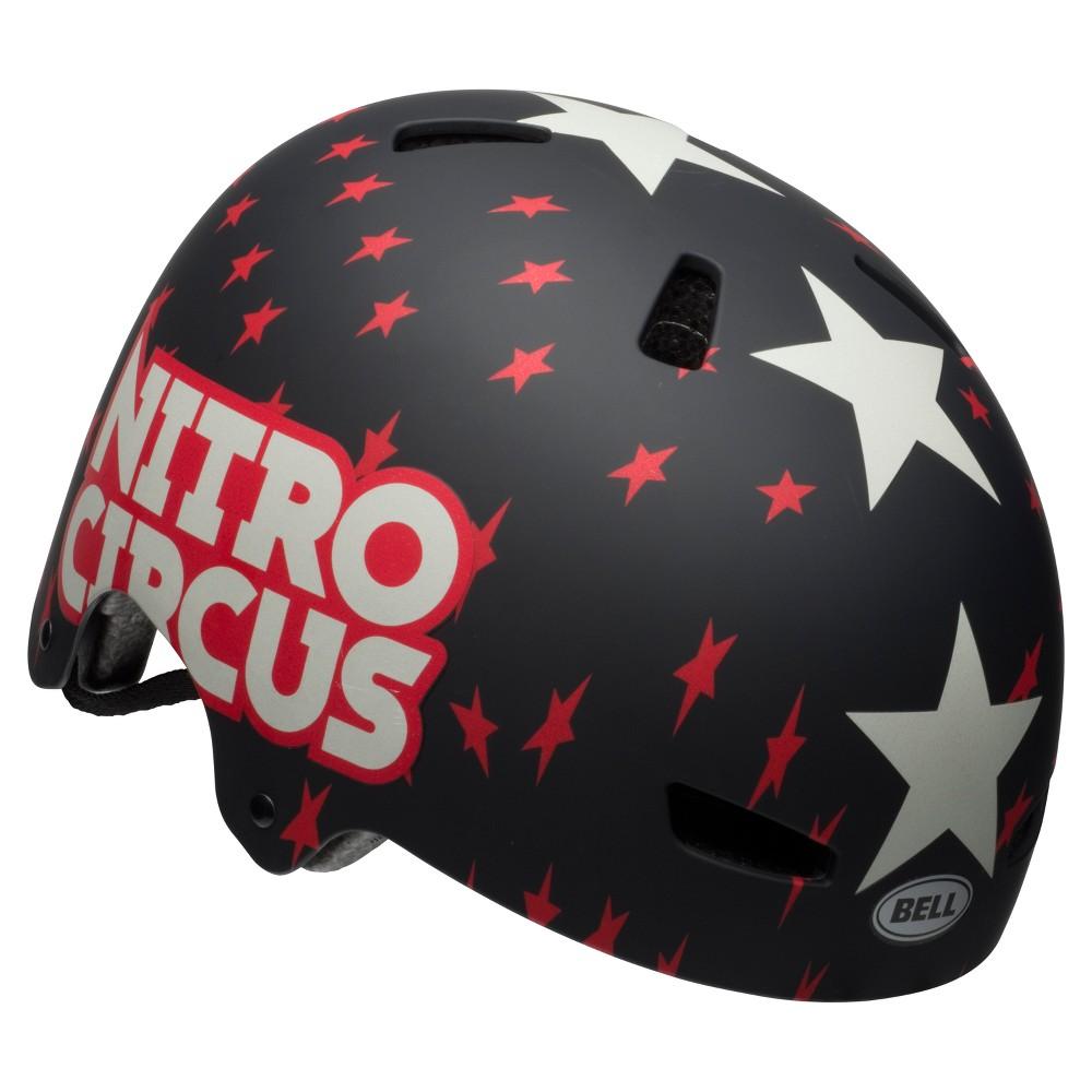 Bell Sports Nitro Circus Ollie Youth Multisport Helmet - Red/Black Stars, Iceberg Blue