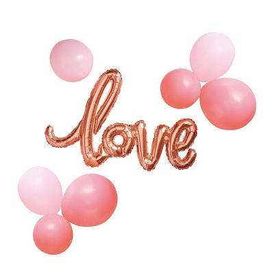 Foil + Latex Love Script Balloon Pack - Spritz™