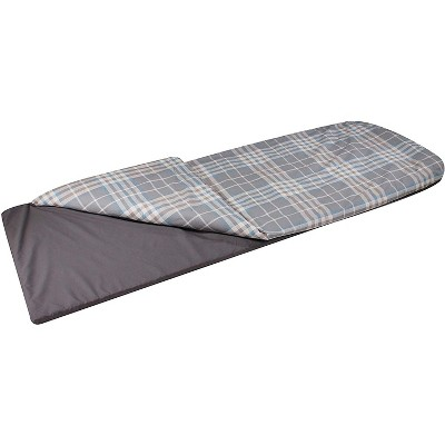 Disc-O-Bed Indoor & Outdoor Duvalay Luxury Memory Foam Sleeping Pad & Duvet Liner, Child Size, Ocean Plaid