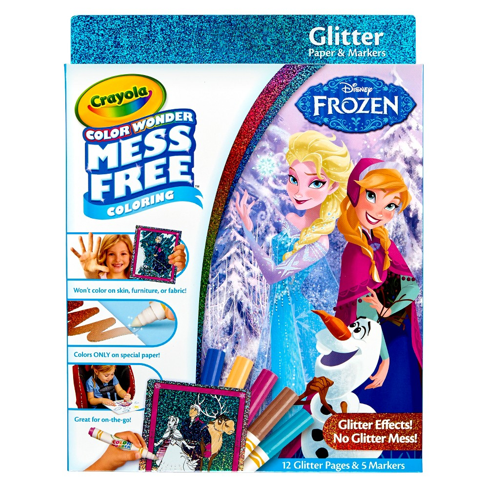 Crayola Color Wonder Glitter Coloring Kit - Disney Frozen, Multi-Colored