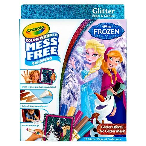 Crayola Color Wonder Glitter Coloring Kit - Disney Frozen