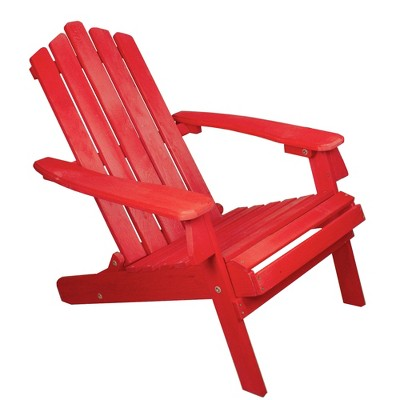 "Northlight 36"" Red Classic Folding Wooden Adirondack Chair"