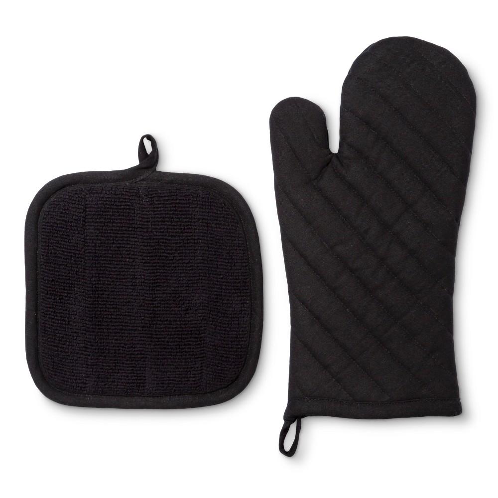 Kitchen Textile Black 2pc - Room Essentials