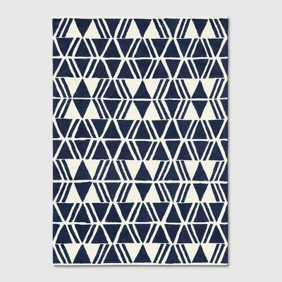 7'x10' Microplush Geo Knitted Area Rug Navy - Project 62™