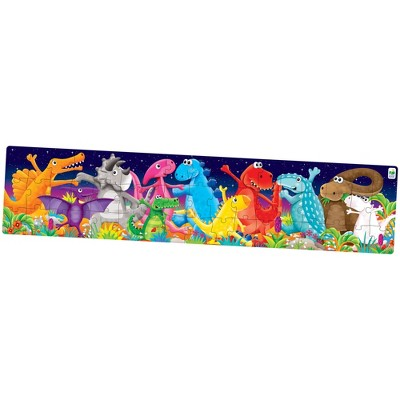 The Learning Journey Long & Tall Puzzle Color Dancing Dinosaurs 50 pieces