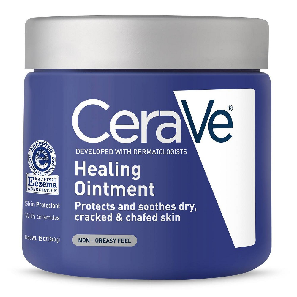 Image of CeraVe Healing Ointment for Dry and Chafed Skin, Non-Greasy Feel - 12oz