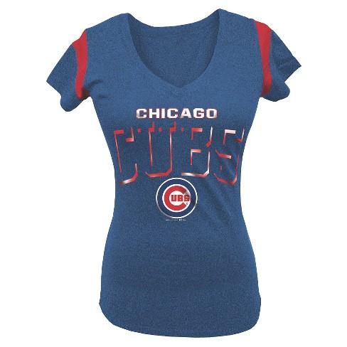 Chicago Cubs Women's V-Neck Shirt XL - image 1 of 1