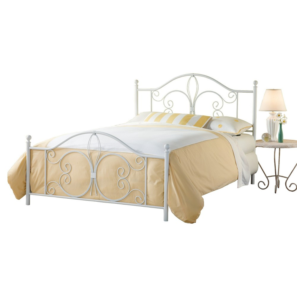 Ruby Bed with Rails - White (King) - Hillsdale Furniture