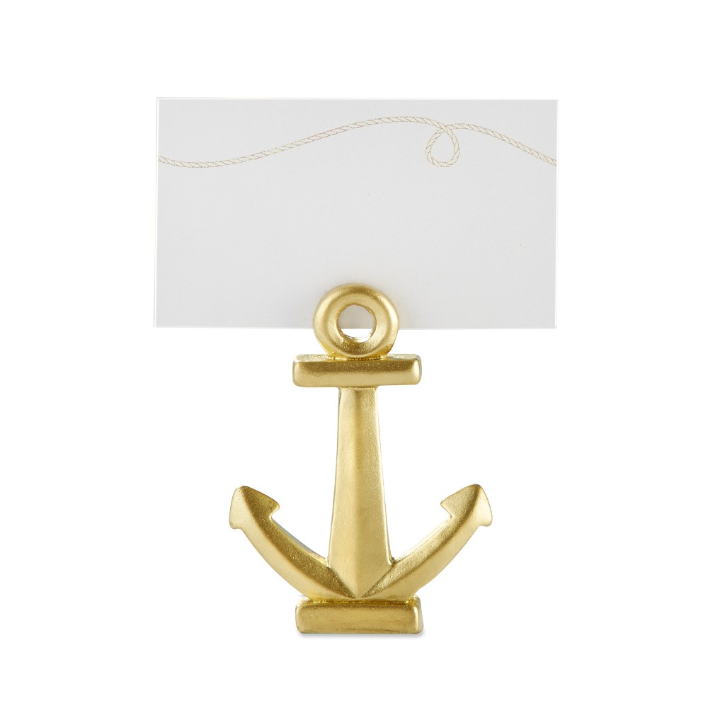 12ct Kate Aspen Gold Nautical Anchor Place Card Holder