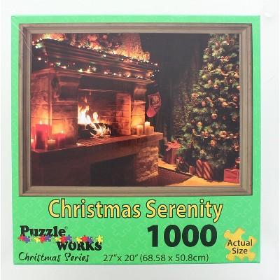 Puzzleworks Christmas Serenity 1000 Piece Jigsaw Puzzle