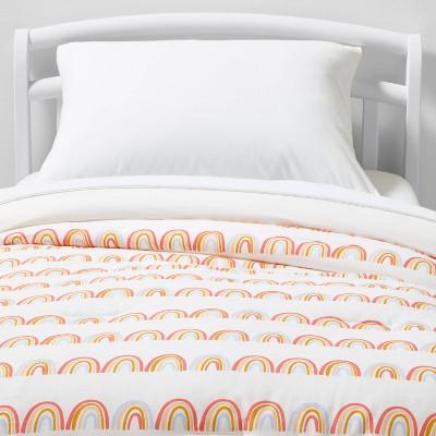 Toddler Rainbow Scallop Cotton Comforter Set Green - Pillowfort™
