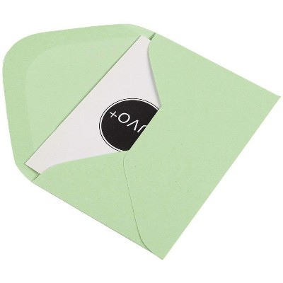 Green Tree Mini Note Cards Gift Cards with Envelopes 8