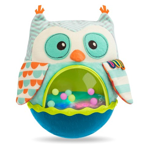 B. baby Roly-Poly Baby Toy - Owl Be Back - image 1 of 4