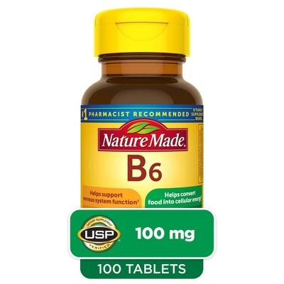 Nature Made Vitamin B6 100 mg Tablets - 100ct