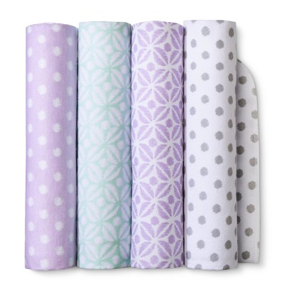 Flannel Baby Blankets Pretty in Purple 4pk - Cloud Island™ Purple