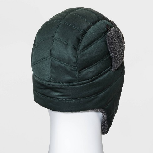 Men's Quilted Sherpa Trapper Hat - Original Use™ Green One Size - image 1 of 1
