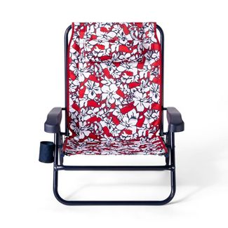 Hibiscus Whale Portable Beach Chair - Red/White - vineyard vines® for Target