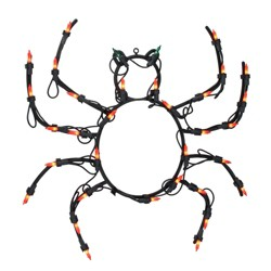 "Northlight 15"" Pre-lit Black Spider Halloween Window Silhouette Decoration"