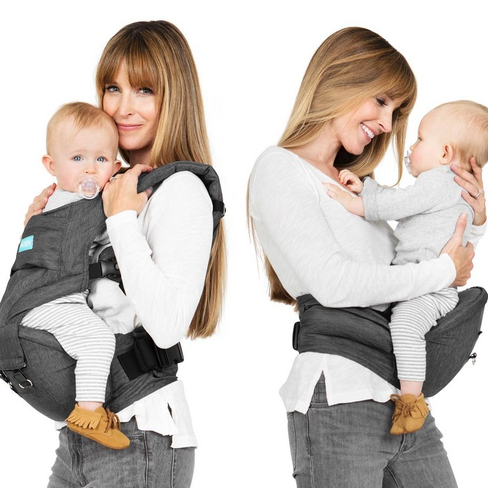 Moby 2-in-1 Baby Carrier + Hip Seat - Gray - image 1 of 17