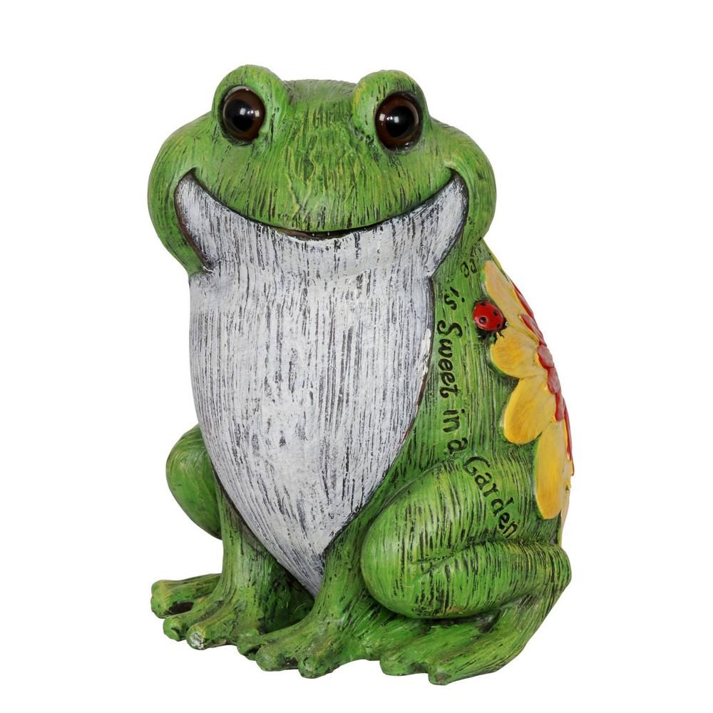 10 24 34 Resin Garden Frog Statue Green Exhart