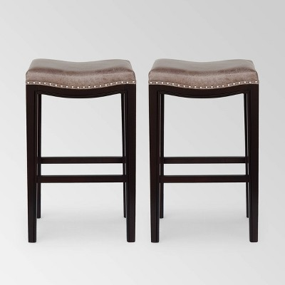 Set of 2 Tiffin Contemporary Studded Barstools - Christopher Knight Home