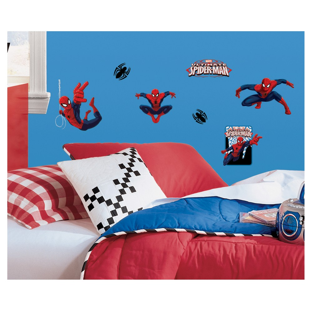 RoomMates Spider-Man - Ultimate Spider-Man Peel & Stick Wall Decals, Multi-Colored