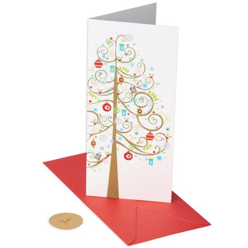 PAPYRUS 10ct Silver Tree Allegro Holiday Boxed Cards - image 1 of 3
