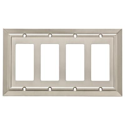 Franklin Brass Classic Architecture Quad Decorator Wall Plate Nickel