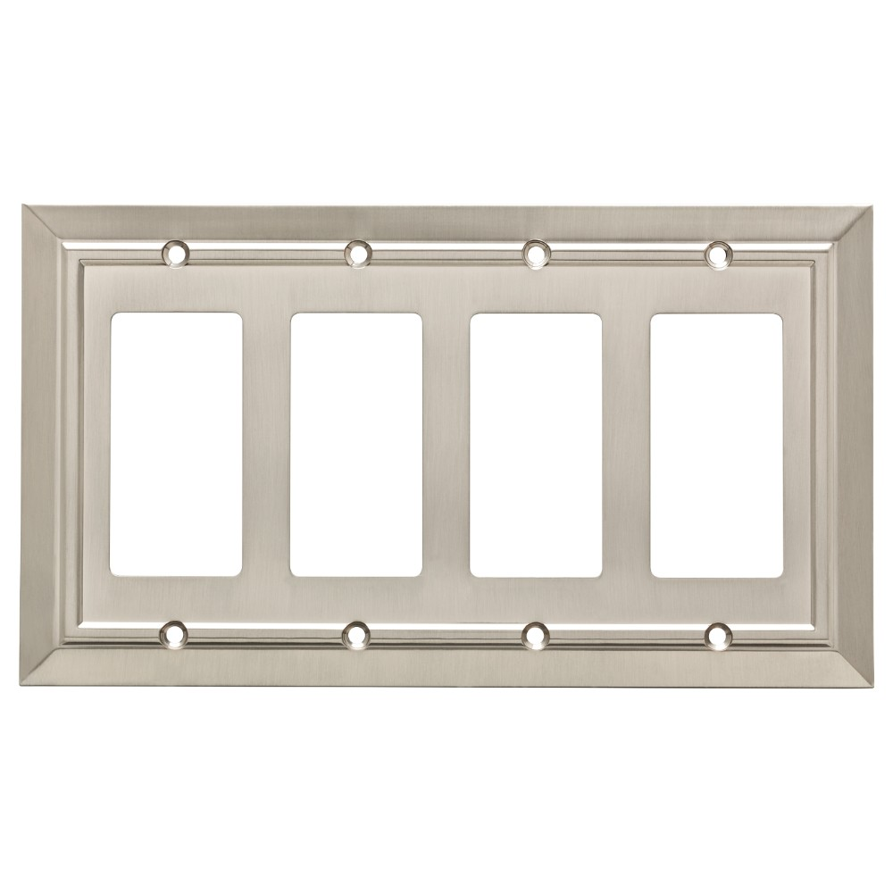 Classic Architecture Quad Decorator Wall Plate Satin Nickel - Franklin Brass