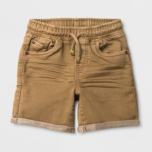 f7e8d3204 Toddler Boys' Pull-On Jean Shorts - Cat & Jack™ Khaki : Target
