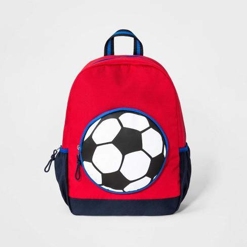 Kids' Soccer Ball Backpack - Cat & Jack™ Red - image 1 of 2