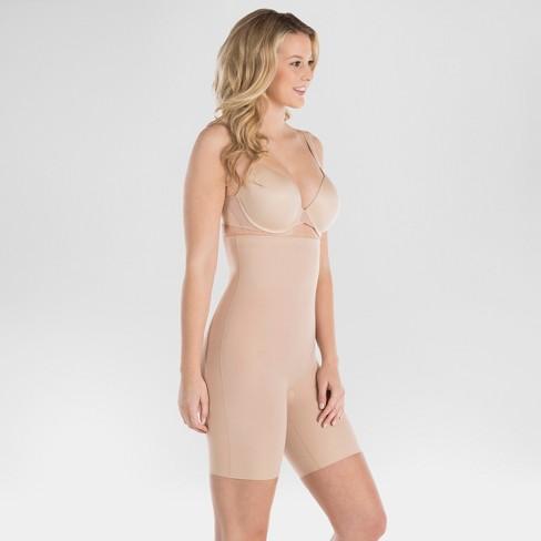 d88251fd2d Assets By Spanx Women s Micro High Waist Mid-Thigh Shaper - Light Beige XL    Target