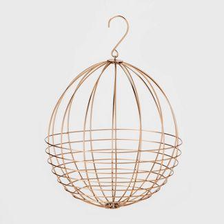 "11.7"" x 11"" Decorative Steel Sphere Copper - Smith & Hawken™"