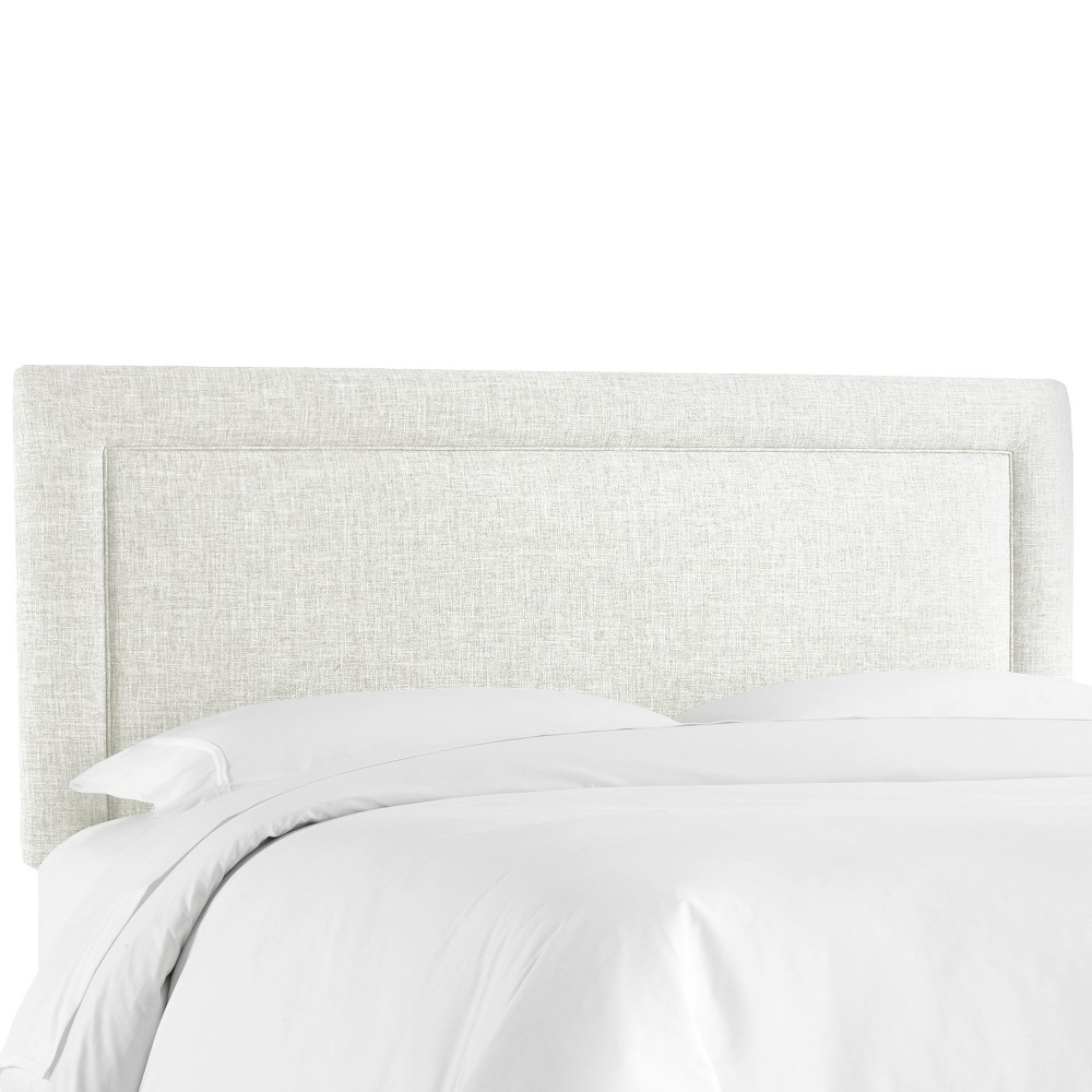 Border Headboard - White - King - Skyline Furniture
