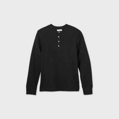 Men's Regular Fit Textured Long Sleeve Henley T-Shirt - Goodfellow & Co™
