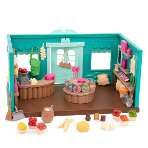 Li'l Woodzeez Store Playset with Toy Food 69pc - Honeysuckle Hollow General Store - image 1 of 3