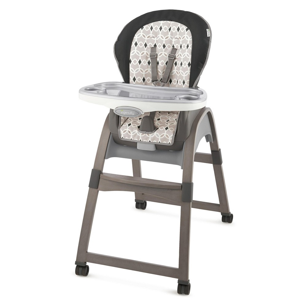 Image of Ingenuity 3-in-1 Wood High Chair - Ellison, Gray