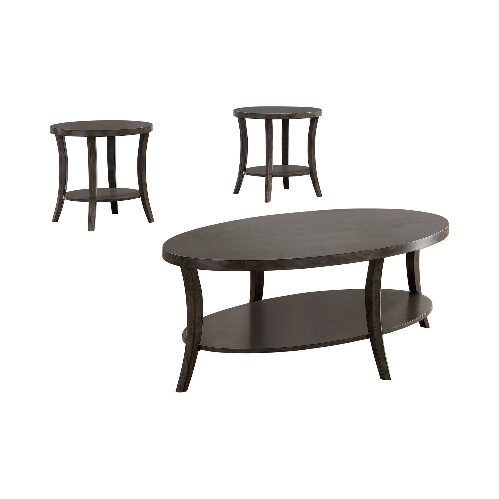 3pc Fallon Occasional Table Set Gray - Homes: Inside + Out