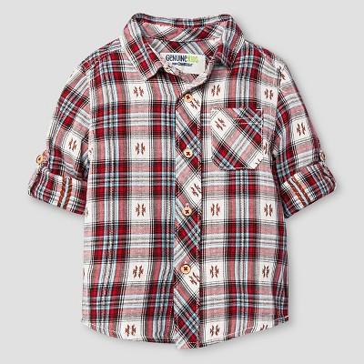 Baby Boys' Button Down Shirt - Brick House 18 M - Genuine Kids™ from Oshkosh®