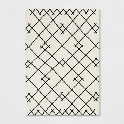 5'X7' Kenya Fleece Geometric Design Tufted Area Rugs Ivory - Project 62™